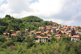 Panoramic view of the city Užice in western Serbia. — Stock Photo