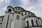 View on the Cathedral of Saint Sava in Belgrade, Serbia — Stock Photo