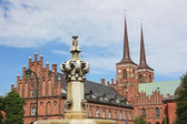 Historical centre of Roskilde. Denmark — Stock Photo