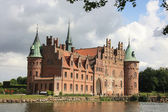 Egeskov Castle in the south of the island of Funen, Denmark. — Stock Photo