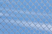 Fence net with hoarfrost — Stock Photo