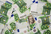 Dollar-euro — Stock Photo