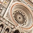 Cathedral in Florence, main facade. — Stock Photo