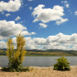 Danube riverbank — Stockfoto