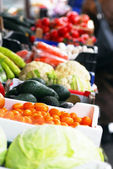 Fruits and vegetables on market — Stock Photo