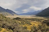 Mt Cook and Plain, New Zealand — Stock Photo