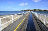 Tram Track on Bridge — Stock Photo