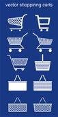 Shopping carts VECTOR — Stock Vector