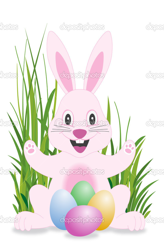 Easter bunny and eggs stock vector larsena 2559151 for Call the easter bunny phone number