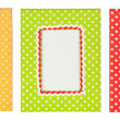 Polka dots photo frame — Stock Photo