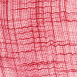 Macro of red lace texture — Stock Photo