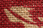 Red and beige carpet texture — Stock Photo