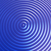 Abstract blue color concentric circles background — Stock Photo