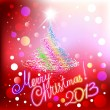 Merry Christmas 2013 red background — Stock Vector