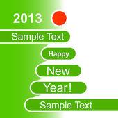 新年快乐 2013年背景 — 图库矢量图片