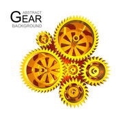 Abstract Gear Background — Stock Photo