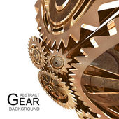 Abstract Grunge Gear Background — Stock Photo