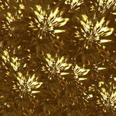 Abstract gold background with abstract flowers — Stock Photo