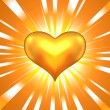 Royalty-Free Stock Vector Image: Gold heart