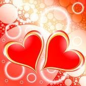 Hearts Shiny Holiday Background — Stock Vector