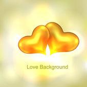 золотое сердце — Cтоковый вектор