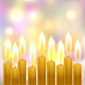 Burning candles — Vetorial Stock