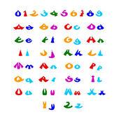 Hilarische komische alfabet — Stockvector