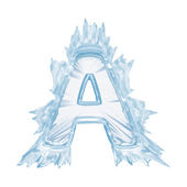 Ice crystal font. Letter A.Upper case.With clipping path — Stock Photo
