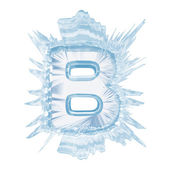 Ice crystal font. Letter B.Upper case.With clipping path — Stock Photo