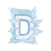Ice crystal font. Letter D.Upper case.With clipping path — Stock Photo