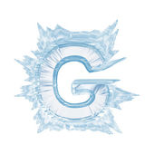 Ice crystal font. Letter G.Upper case.With clipping path — Stock Photo