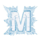 Ice crystal font. Letter M.Upper case.With clipping path — Stock Photo