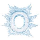 Ice crystal font. Letter O.Upper case.With clipping path — Stock Photo