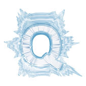Ice crystal font. Letter Q.Upper case.With clipping path — Stock Photo