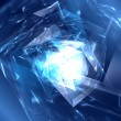 Stock Photo: Abstract futuristic blue polygonal background