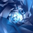 Stock Photo: Abstract geometric blue background