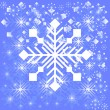 Snowflake light background — Stock Vector