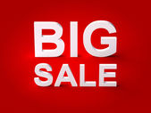Big Sale 3d Text — Stock Photo