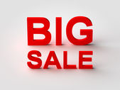 Big Sale Red 3d Text — Stock Photo