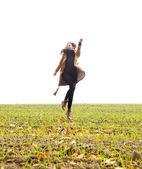うれしそうな飛躍 — ストック写真
