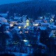 St. Englmar mountain resort at night — Stockfoto