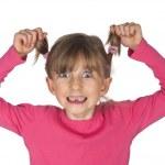 Постер, плакат: Funny young girl with missing milk teeth