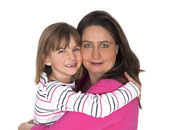 Mother and daugher hugging — Stock Photo