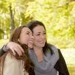 Laughing girlfriends — Stock Photo