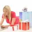 Young woman while online-shopping — Stock Photo #4497579