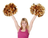 Cheerleader rejoicing — Photo