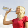 Young woman drinking water — Stock Photo #5405657