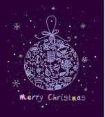 Christmas ball in cartoon style — Stock Vector