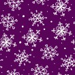 Christmas seamless pattern snowflake background - Stock Vector