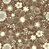 Floral seamless pattern in vector. — Stock Vector
